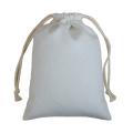 Sacos com cordão em lona de algodão
