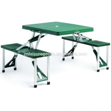 Plastic outdoor camping folding picnic table