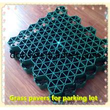 Paver plástico verde da grama do parque de estacionamento