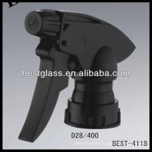 28/410 pulverizadores de gatillo ajustables de plástico de color con tapa, disparadores de rociador de botellas cosméticas, rociador de bomba de perfume
