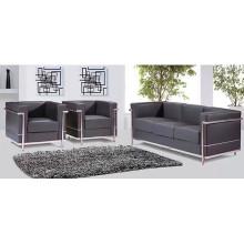 Sofá moderno de escritório de couro genuíno