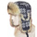 Sombrero de invierno con tejido de punto con piel (WT1201)