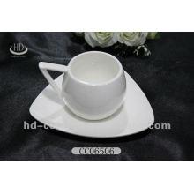Уникальная керамическая чашка с блюдцем