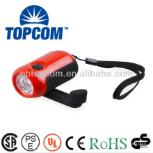 no battery need 3 modes 1 led dynamo torch TP-1003