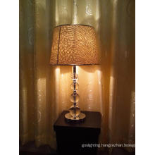 Beatuiful Iron Crystal Table Light with Pattern Lampshade (TL 1560/C+WT)