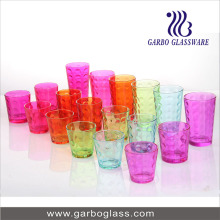 18 PCS Glass Cup Set/Highball Glass Tumbler Set/Colored Glassware