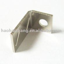 Benutzerdefinierte Löten Nickel Plating Metall L Form Kabelklemmen