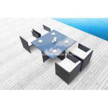 Heiß! Outdoor Rattan Ess-Set für Garten mit vier Stühlen / SGS (8219-2A)