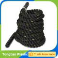corde de combat noire les deux extrémités avec des bouchons thermorétractables