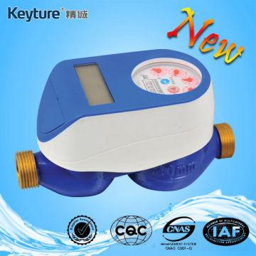 Medidor de água inteligente com válvula selada mecânica azul
