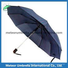 Der beste klassische Mens Blue Folding Automatik Regenschirm