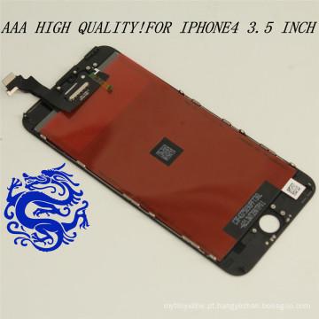 Grau AAA Original Pass LCD para iPhone 4, atacado para iPhone 4 LCD com tela de toque digitador