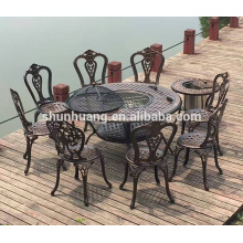 cheap price bistro dining sets stackable outdoor chairs garden round dining table