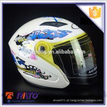 Capacete de rosto cheio de motocicleta branca ABS ABS design 2016