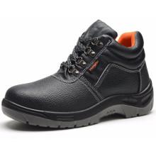 Zapatos de seguridad de cuero genuino baratos de venta caliente