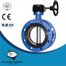 cast iron wafer type PTFE butterfly valve manual butterfly valve
