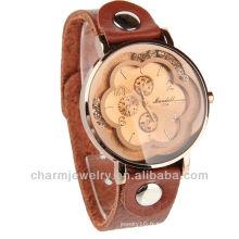 Vente en gros de montres en cuir Montre à quartz Movt Lady pour dames WL-064