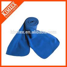 Venta al por mayor bufanda de poliéster azul 100