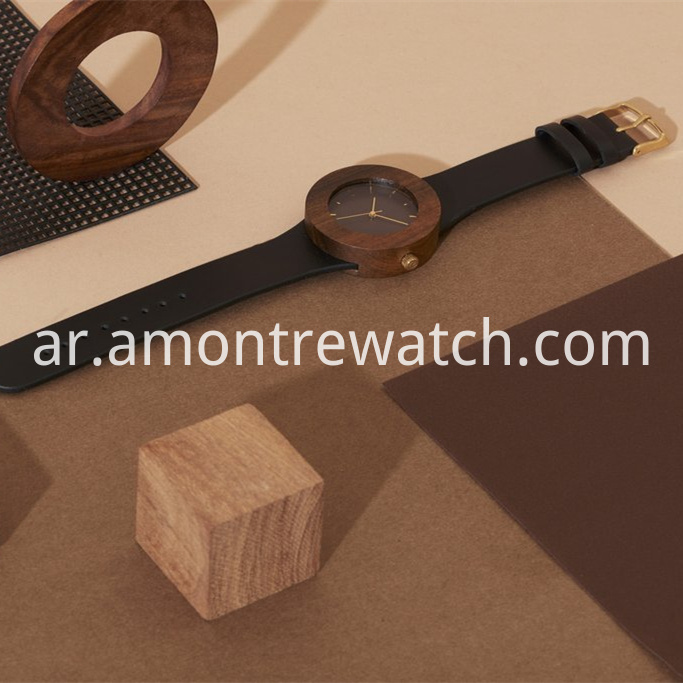 wooden Japan mvmt watch