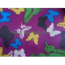 Mais barato 210T impressa poliéster tecido tafetá com revestimento de PVC