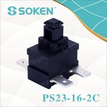 Interrupteur à bouton-poussoir rectangulaire Soken pour aspirateur 250VAC 16A