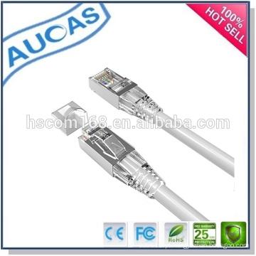 AUCAS cat6 rj45 UTP blindado cordão de remendo plano / systimax encalhado cobre 24AWG cabo de remendo flat / hot vender melhor qualidade