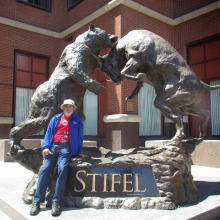 métal jardin sculpture grande métal artisanat ours taureau statue