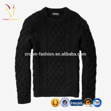 wholesale Cable Knitted Sweater Men's 100% Pure Cashmere Knitwear