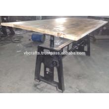 industrial crank coffee table