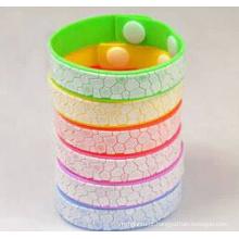 Faixa repelente do mosquito do punho do bracelete do anti mosquito do silicone