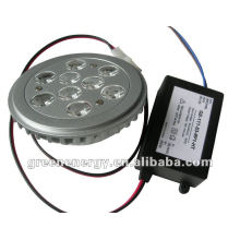 NEW AR111, 9 HIGH POWER LEDs,Base G53,driver outside