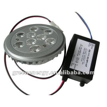 NOUVELLE AR111, 9 LED haute puissance, base G53, driver à l'extérieur