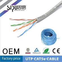 SIPU alta qualidade 24awg ethernet cabos cat5e bobinada cabos de par trançado