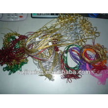 new models Silver metallic elastic cord used in gifts package