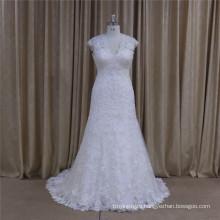 5665 High Quality Full Lace Sleeveless Elegant Wedding Dress 2016