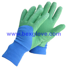 Color Latex Coated Pretty Garden Glove for Children