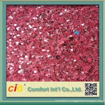 Tissu de vinyle d'unité centrale brillante d'utilisation de décoration matérielle brillante de 137cm
