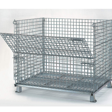 Lipat & Stackable Galvanized Pallet Cage