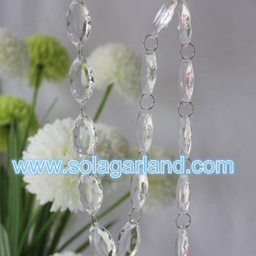 Acrylic Crystal Diamond Cut Shuttle Beads Garland With Silver Key Ring