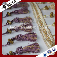 Stock Product Cheap Big Bargain for Curtain Accesories Plastic Pearls Beaded Tassel Fringe