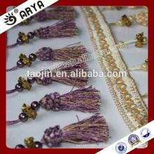 Stock Product Cheap Big Bargain para acessórios de cortinas Pérolas plásticas Frisado Fralda de borla