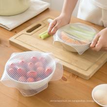 Película adhesiva de silicona reutilizable ecológica que mantiene los alimentos frescos