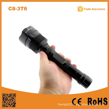 C8-3t6 Rechargeable 3*Xml L2 T6 LED Hight Brightest Flashlight 3800lm Police Xml T6 Flashlight