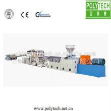 Alta automatización fiabilidad baja potencia hoja/tablero plástico que hace la máquina