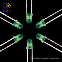 El mejor vendedor China LED fabricante 3mm llevó el ánodo común 5m m verde difundió led para la pantalla