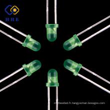 Meilleur vendeur Chine LED Fabricant 3mm led anode commune 5mm vert diffusé led pour l'écran