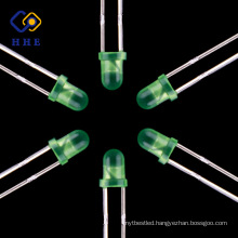 Best seller China LED Manufacturer 3mm led common anode 5mm green diffused led for screen