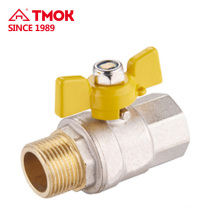 TMOK Copper Valve Special Gas Ball Valve Brass Taper Thread Adjusting Gas Valve Manufacturer