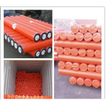 Orange Waterproof Plastic PE Tarpaulins rolls