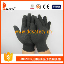 Nylon / Polyester-Handschuhe mit nahtlosen und PVC-Handschuhen (DKP419)
